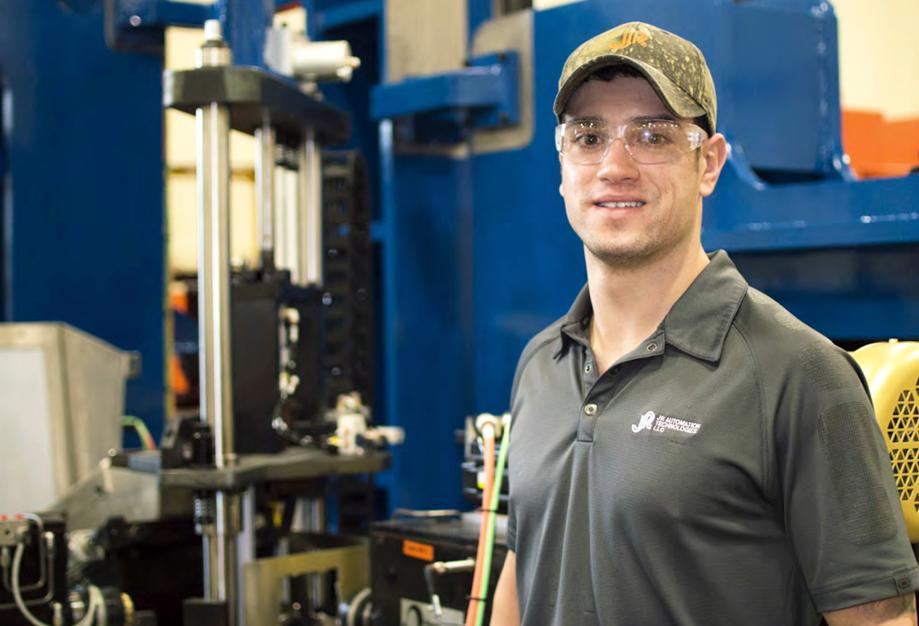Male JR Automation Robotics Builder Testimonial