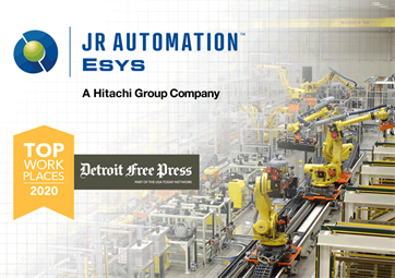 Detroit Free Press top workplace award for Esys Automation